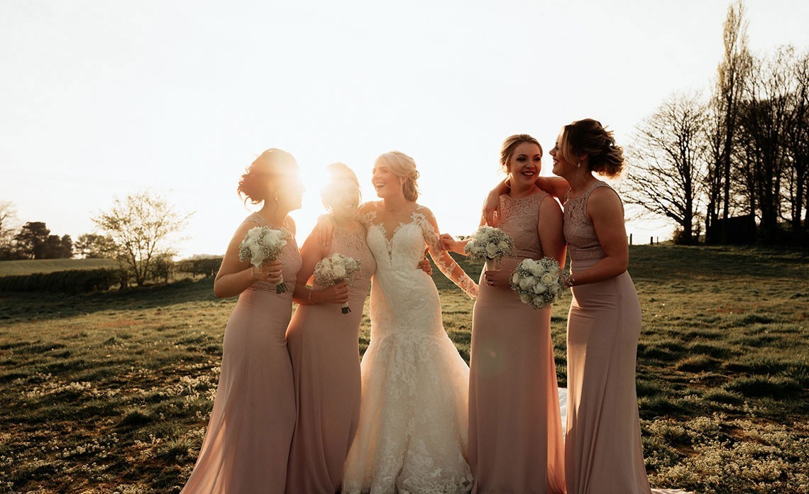 Blush Pink, Bow Ties & The Bride In Pronovias At This Stunning Delamere Wedding….