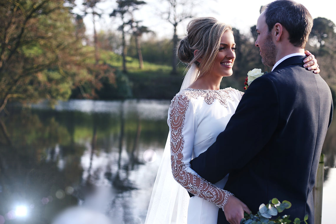 Winter Sparkle With Burgundy Hues At Delamere Manor….