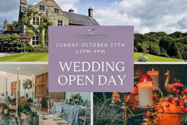 Talhenbont Hall Open Day Sun 27th Oct…