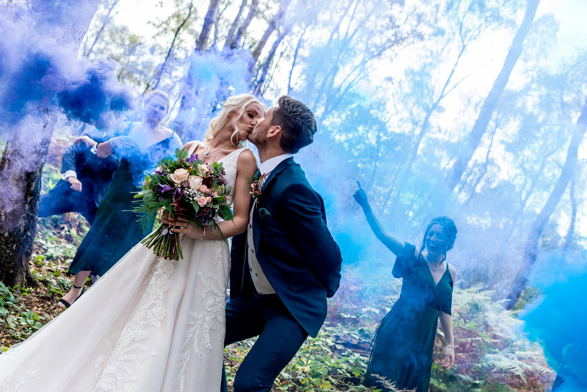Gorgeous Gown For 'Wild' Woodland Wedding With Autumnal Touches