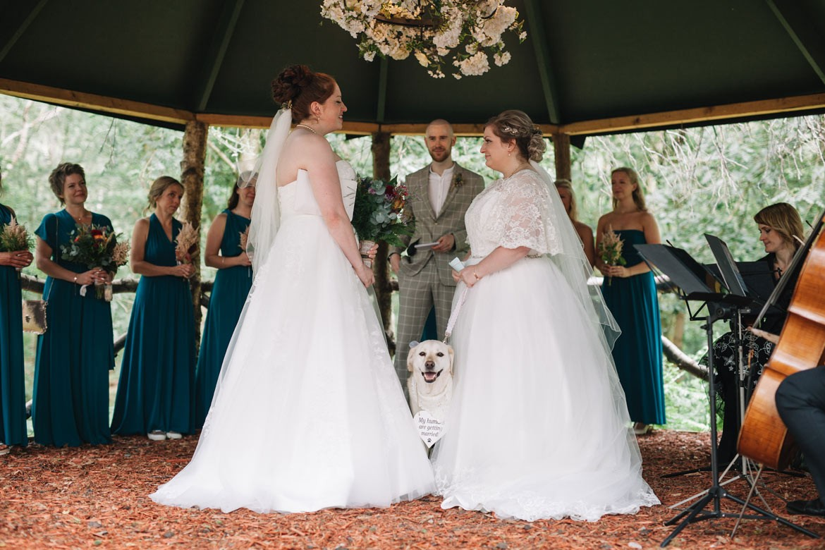 Two Wives, One Woof & A Wonderful Woodland Wedding